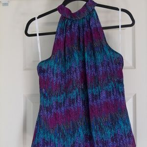 Laundry Blue and Purple Pattern Size 6 Top